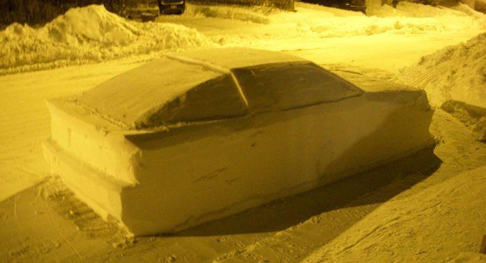 Strafzettel für ein Supra MK3 Schneeauto