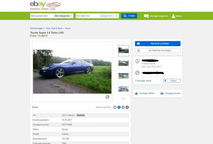 Supra MK4 LHD Schnäppchen für 12.400€