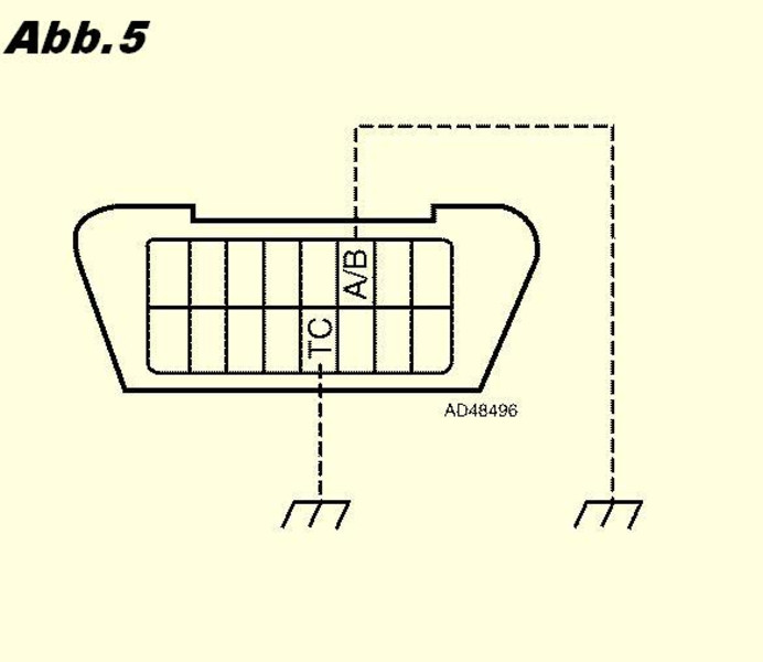 Read out the airbag fault code and switch off the airbag signal