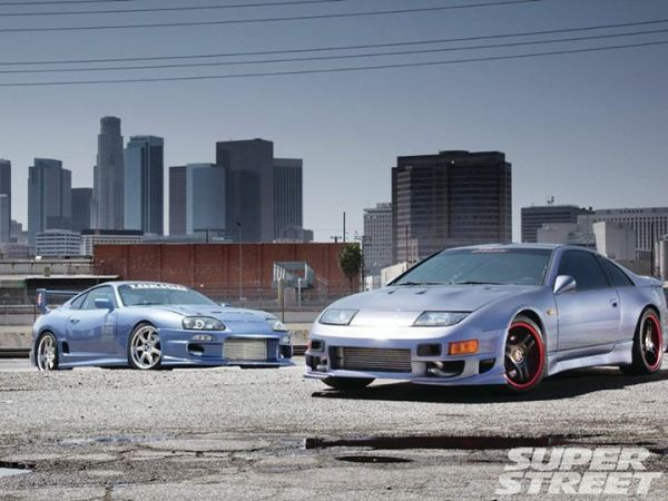 1992 Nissan 300ZX and 1995 Toyota Supra  #JapaneseCars #SuperStreetOnline