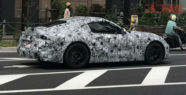 New Toyota Supra on public road in Japan