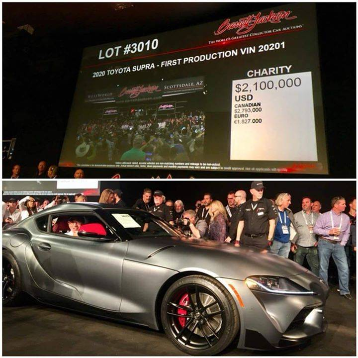 Crazy! The first production Supra has been sold for 1827000 €