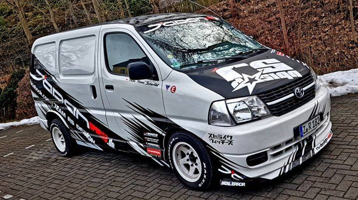Our Toyota Hiace Modified is ready for the #CzechDriftSeries season opener