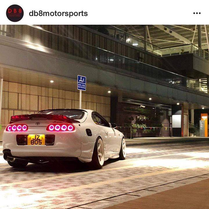 @db8motorsports Supra rocking the @prospecimports Sniper Ring LED tails and other carbon parts 🔥🔥🙌😍
