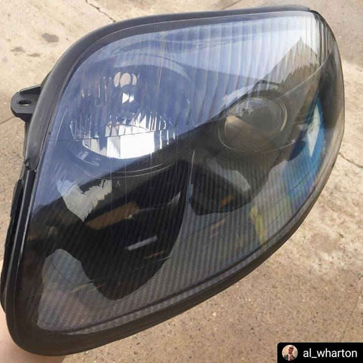 #Repost @al_wharton  • • • • • Headlights back together cleaned and sealed, one more bit of carbon fibre for the car @prospecimports * * * * We have a new batch of carbon headlight inserts almost ready! Get in touch to secure your set before they sell out 🖤