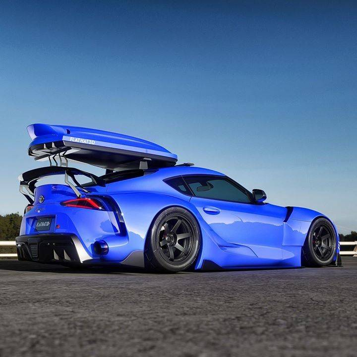 Fast and practical?.. Mk5 Supra with an FT1 body kit and roof rack. Artwork by @flatjat3d
