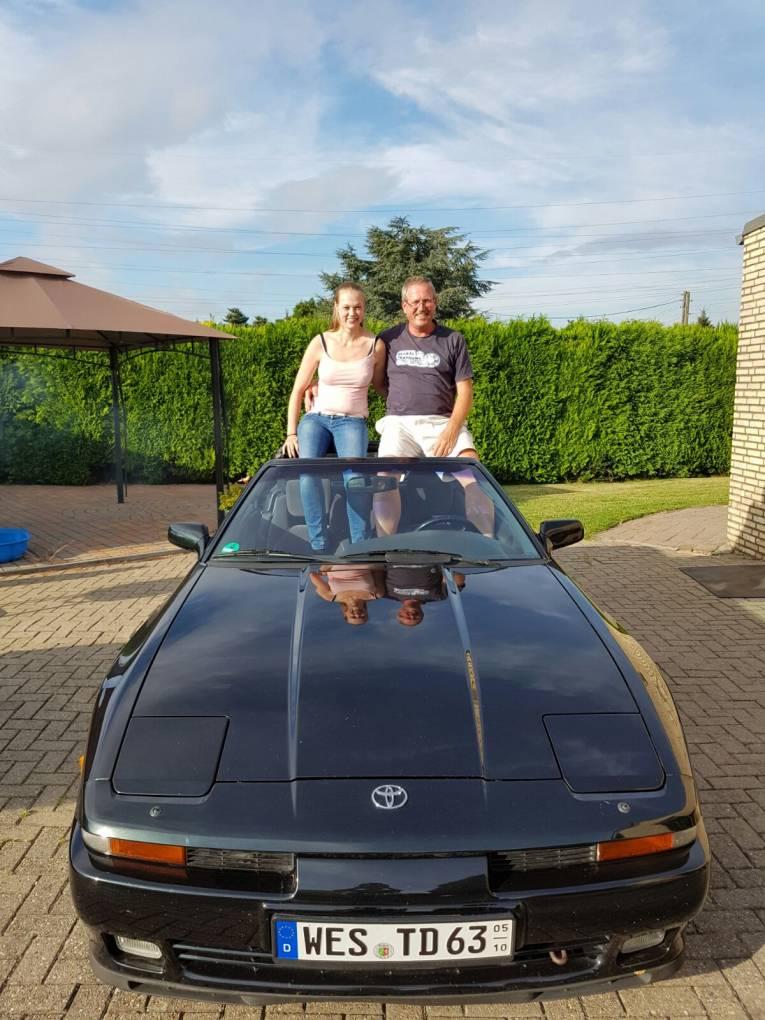 Vater und Tochter das gleiche bild haben wir mal vor 25 Jahren gemacht